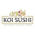 Koi Sushi Japanese Fusion Food Logo